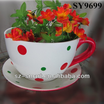 Pot For Flower Cup And Saucer Ceramic Pot - Buy Cup And Saucer ...