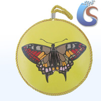 butterfly design yellow background beautiful coaster placemats