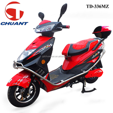 dongguan chuant 600w 60v black steel frame electric motorcycle with rear box TD336MZ