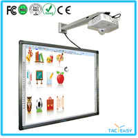 "88"" infrared technology smart board interactive whiteboard with finger touch directly"
