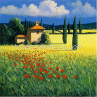 Impressionism Tuscany italian flower landscape oil painting canvas on sale by China Professional Oil Painting manufacturer