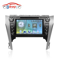 Bway 2 din car audio player for TOYOTA CAMRY 2012 car dvd gps 256 MB RAM with car Radio bluetooth,steering wheel