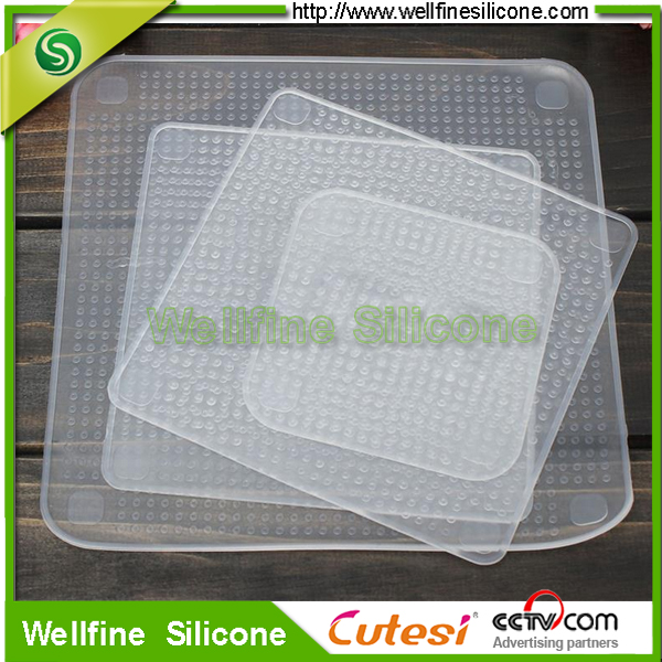China manufacturer wholesale price BPA free Reusable Tasteless Silicone Food Grade Stretch Wrap Film