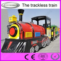 Popular amusement rides electric tourist trackless train for sale