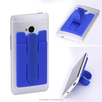 fashion back sticky silicone phone case card holder