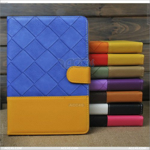 Book style Double Colors PU Leather Case for iPad Mini P-iPDMINICASE111