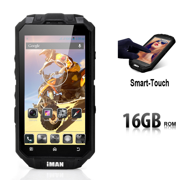 iMAN i3 Wireless Charging phone RAM 1G ROM 16G 4.3 inch MTK6589 Quad core ip68 rugged smart phone