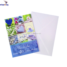 2017 Custom New Style Paper Quilling Happy Birthday Cards