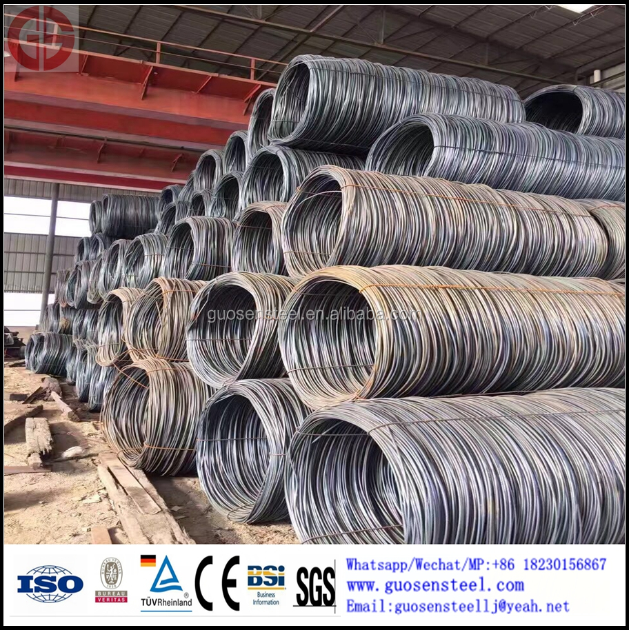 hot rolled GuoYi low carbon steel 5.5mm wire rod SAE1006 SAE 1008 SAE 1010 SAE1012 for nail or civil construction