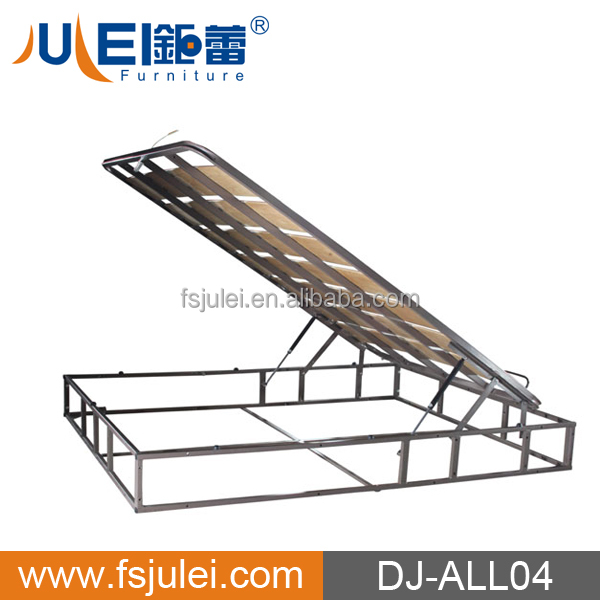 modern steel lift-up storage bed frame with gas lift DJ-ALL04