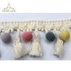 Multi coloured Tassel with pom pom fringe