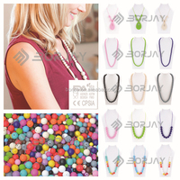 New Design Fashion Alloy Necklace Jewelry For Food Grade Silicone Material
