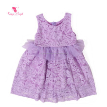 Light Purple Lace Puffy Dress Kids Party Wear Dresses For Girls