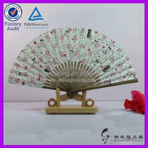 cheap promotion Hand Drawing Paper hand fans