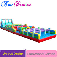Giant high quality PVC Outdoor Inflatable trampoline Jurassic Park inflatable playground Inflatable race track sides castle