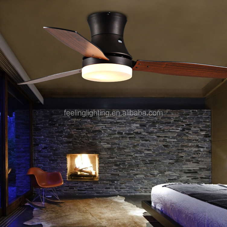 Loft contracted fashion artical sitting room dining-room remote control electric <strong>oak</strong> attic ceiling fan with light