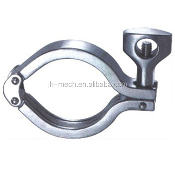 Stainless steel heavy duty quick release pipe clamp
