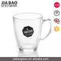 350ml Cheap personalized mini clear glass mugs with handles