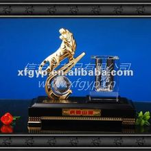 golden tiger and pen container decorative souvenir trophy cup
