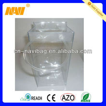 high quality bottle wine clear pvc ice bag(NV-PV007)