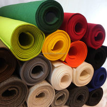 colorful 100 polyester non woven felt fabric