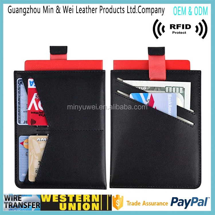 Leather RFID Blocking Case Cover passport holder leather