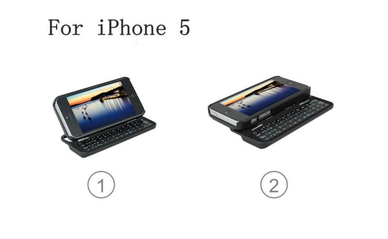 CE ROHS FCC Sliding Bluetooth Keyboard for iphone 5