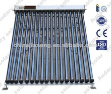 High pressure vacuum tube solar collector heat pipe