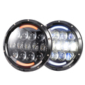 whole sale 7 inch led headlight 105W Super bright High/low beam headlight for wrangler with angel eye