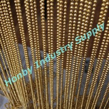 Decorative Elegant Gold Hanging Metal Bead Door Curtain