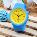 Removable face jelly silicone sports unisex watch