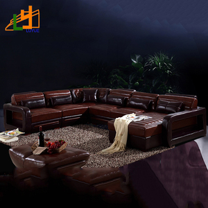 new model classic design pictures genuine leather furniture l or u shaped living room sofa set luxury 7 seater corner sofa set