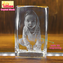 Custom Logos Engraving K9 Blank Crystal Block