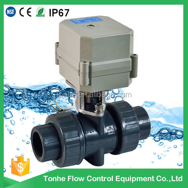 PVC electric actuator ball valve-DN15