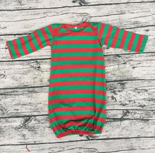 girls striping pictures unique color gowns designs Newborn Baby Girl Christmas clothes Sleep gown evening dress long sleeve
