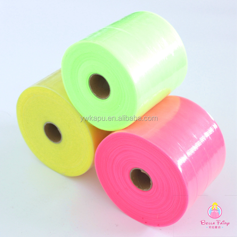 Quality Wholesale Tulle Rolls China Supplier Polyester Tulle Fabric Cheap 5 inch * 200 yards Tulle Roll