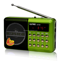 JOC mini portable fm radio WITH TF /USB DISK PLAY WITH COMPUTER PLAYER OUTPUT EL-011