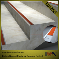wood concrete round curved porcelain tile bullnose metal aluminium anti-slip stair nosing