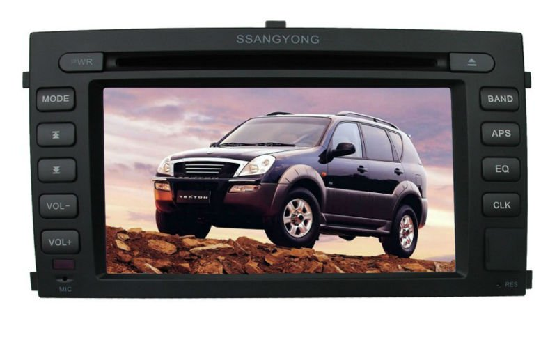 Ssangyong rexton auto radio player with car camera in, virtual 8 Disc charger, 8 GB internal storage