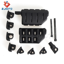 Zjmoto Black&Chrome Aluminum And Rubber Motorcycle Footpeg Mount Cluiser Foot Pegs Fit For Male Mount Harley Davision
