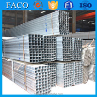 FACO GI RHS ! square galvanized piping 2.5 inch galvanized square steel pipe in stock