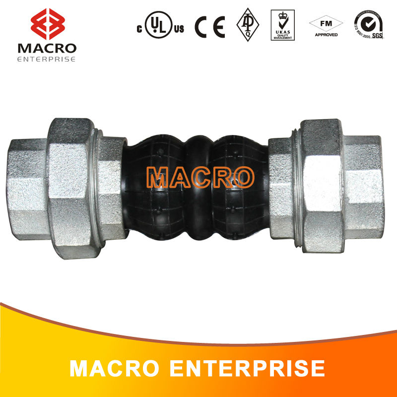 Dual-ball union type universal joint rubber