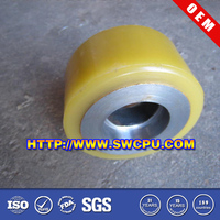Rubber roller polyurethane coaster wheels for sale