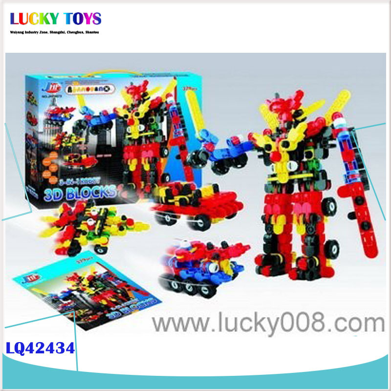 New Products Super Heroes Building Blocks 3D SUPER HEROES BUILDING BLOCKS 3-IN-1 ROBOT (379PCS) Educational toy for children