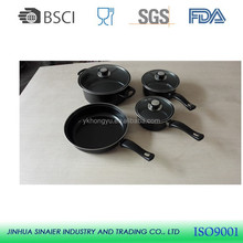 Hot selling 7 pcs carbon steel non stick cookware sets
