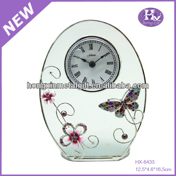 New arrival table clock souvenirs clock gifts clock,metal table clock,antique metal table clock