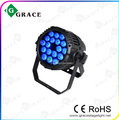 waterproof high quality 18*10w RGBWA 5in1 IP65 par can stage light
