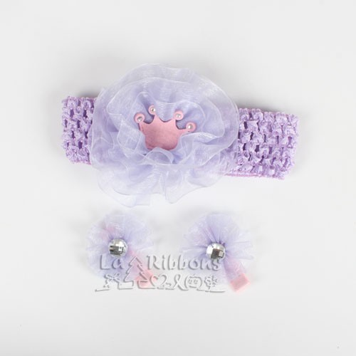 New Style Baby Girl Hair Clips With Ribbon Bow
