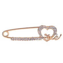 Fashionable Inlay Rhinestone Cloth Decoration Simple Style Brooch For Women