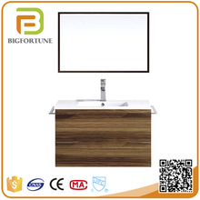 Modern solid surface square single bowl sink bathroom cabinet